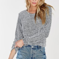 Short Cut Cropped Sweater