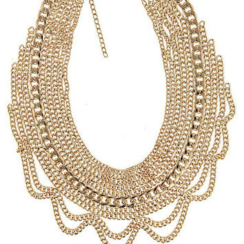 Chain Bib Necklace   Two Colors