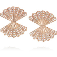 Anita Ko - Fan 18-karat rose gold diamond earrings