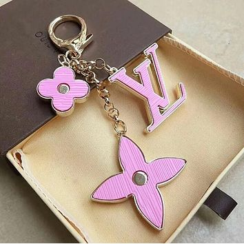 LV Classic Popular Women Cute Letter Key Ring Bag Accessories Jewelry Pink I12694-1