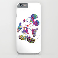 Mickey Mouse Watercolor iPhone & iPod Case by Bitter Moon