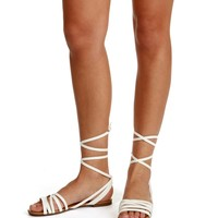 White Oh Strappy Day Sandals