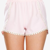 Crochet Trim Flutter Short