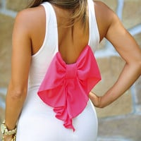 Topped With A Bow Maxi Dress: Pale Pink/Coral | Hope's