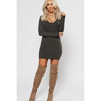 Stop Staring Bodycon (Military Olive)
