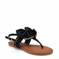 bow sandals $14.30 in BLACK NATURAL RED YELLOW - New Shoes   GoJane.com