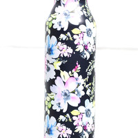 Stainless Steel Hot/Cold Floral Print 17 oz Bottle {Black}