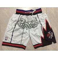 Just Don Toronto Raptors White NBA Basketball Swingman Shorts