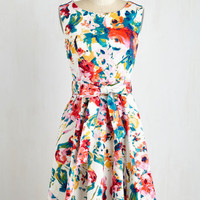 Mid-length Sleeveless Fit & Flare Hour by Flower Dress