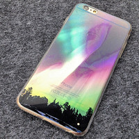 Colorful Aurora Scenery TPU Case Cover for Iphone 6 S plus Cases