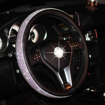 Lux Rhinestone Steering Wheel Cover