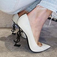 YSL Yves Saint Laurent Classic Popular Women Pointed High Heels Shoes Sandals
