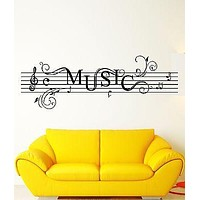 Wall Stickers Vinyl Decal Music Notes Rock`n`Roll For Living Room Unique Gift (z1734)
