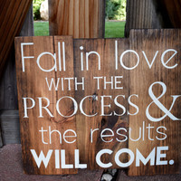 Rustic Sign, Motivational Sign, Fitness Sign, Success Sign, Quote on Wood, Rustic Decor