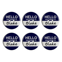 Blake Hello My Name Is Plastic Resin Button Set of 6