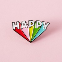 Happy Enamel Pin