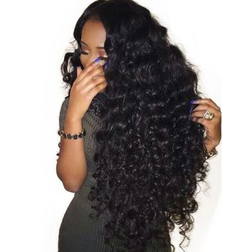 Pre Plucked Lace Front Human Hair Wigs 250% Density Wavy Human Hair Wigs With Brazilian Remy Hair Bleached Knots You May