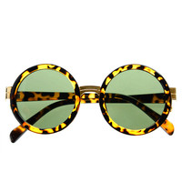High Fashion Designer Retro Style Circle Round Sunglasses R2600