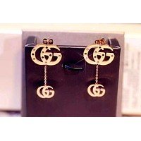 GUCCI new tide brand female models earrings gold
