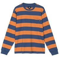 Classic Stripe L/S Shirt in Navy