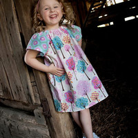 Peasant Dress, Girls Dress, Kids, Clothing, Newborn, 12 Months, 2T,4T, 5T, 6 Pretty Little Things