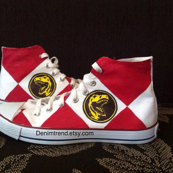 Power Rangers Mighty Morphin Red Ranger Converse Shoes