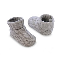 Carter's Cable-Knit Crib Shoes - Baby (Grey)