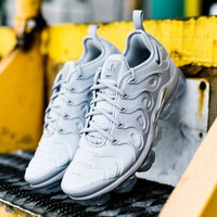 Mens Nike Air Vapormax Plus White Grey Cheap size 39-45