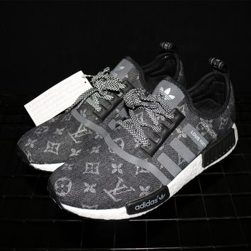 Adidas NMD x Louis Vuitton Boost Black Sneakers