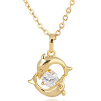 Dolphin Couple Necklace