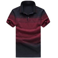 3 Colors Natural Silk Summer Mens Polo Shirts Brands Short Sleeve Polo Shirt Men Polo Homme M-6XL Plus Size