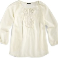 Sperry Top-Sider Beaded Peasant Top Ivory, Size XS  Women's