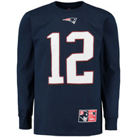 Men's New England Patriots Tom Brady Navy Eligible Receiver II Name and Number Long Sleeve T-Shirt