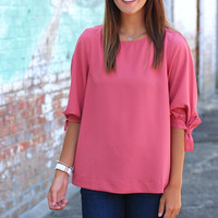 Fit to be Tied Shift Top {Mauve}