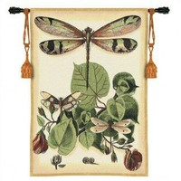 Fine Art Tapestries Whimsical Beige Dragonfly II Tapestry - 3121-WH - All Wall Art - Wall Art & Coverings - Decor