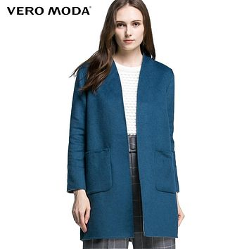Vero Moda Brand double-sided wear cocoon wool coat woman |315327014