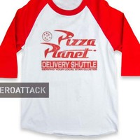 pizza planet raglan unisex tee shirt for adult men and women