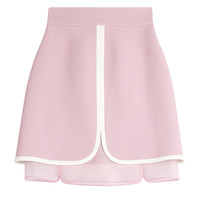 Giambattista Valli - Crepe Skirt with Silk Organza