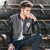 New Spring jacket men clothing fashion coat male Leather jacket baseball men bomber jacket for men