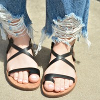 Heart Like Mine Sandals - Black