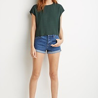 Textured Woven Boxy Top