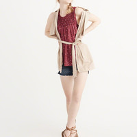 Womens Smocked Shell | Womens Tops | Abercrombie.com