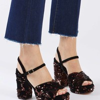 LEONA Sequin Sandals | Topshop