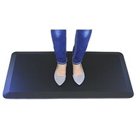 Surpahs Anti Fatigue Kitchen and Office Comfort Standing Floor Mat - 20x40 Inches, Black