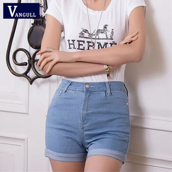 2016 New Fashion women's jeans Summer High Waist Stretch Denim Shorts Slim Korean Casual women Jeans Shorts Hot Plus Size