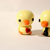 Cute Polymer Clay Duck Couple Set