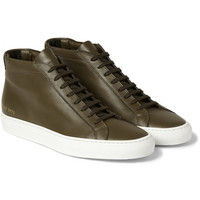 Common Projects - Achilles Leather High Top Sneakers | MR PORTER