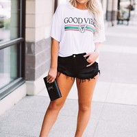Good Vibes Graphic Top (White)