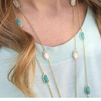 Kellie Long Necklace in Ivory Pearl - Kendra Scott Jewelry