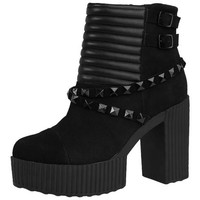 Quilted and Studded Yuni Boots